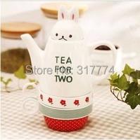 Water bottle glass tea for two rabbits cup set ceramic tea set teapot cup set