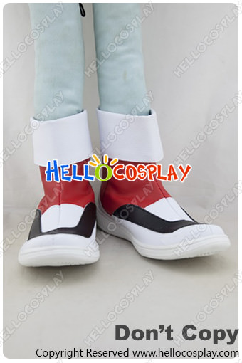 Free Shipping Pokmon Pokemon Cosplay Crystal Red White Shoes Tailor-Made(China (Mainland))