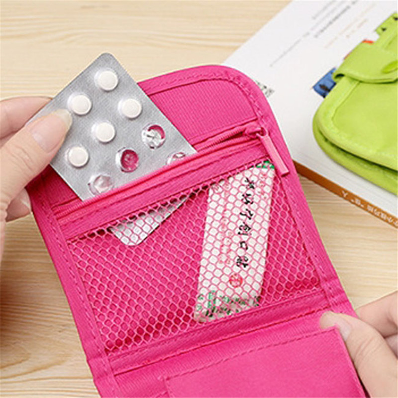 Medicine Drug storage bag Folding waterproof portable Emergencies packages Handbag Sorting bags First Aid Box Pill Case pouch(China (Mainland))