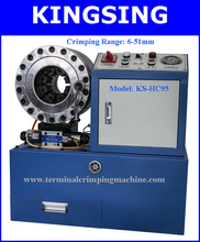 Electric High-quality Hose & Pipe Crimping Machine, Exchangable Die Sets KS-HC95 + Free Shipping by DHL air express (China (Mainland))