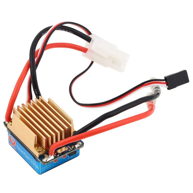 Shipping Phoenix Free Electric Speed 320A Brushed Controller ESC For RC Car Boart parts(China (Mainland))