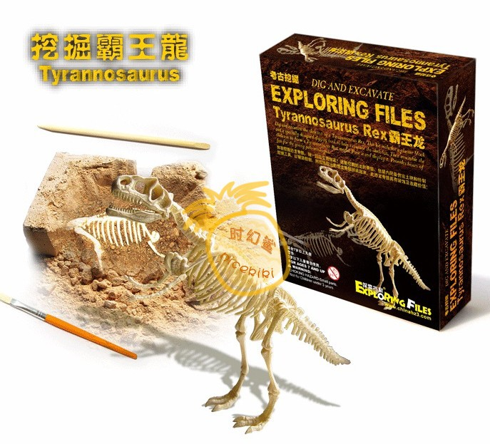 Children favorite toy gift Series educational toys birthday christmas Archaeological excavation toys model 6 styles choose 1pc t(China (Mainland))