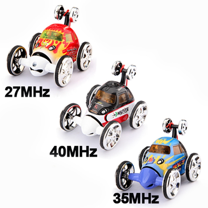Brand New Mini Led RC 360 Wheelie Remote Radio Control Twister Rechargeable Stunt Car Toy(China (Mainland))