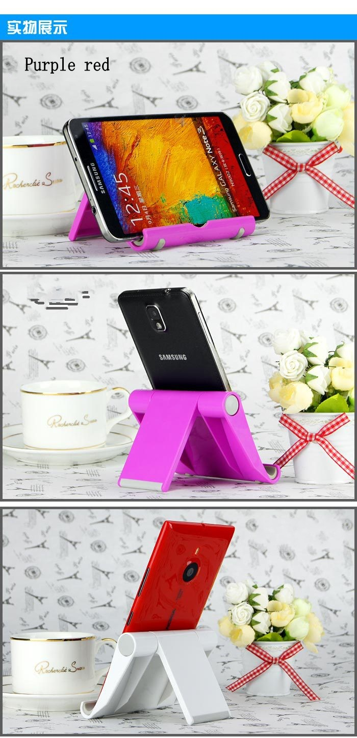 Foldable Mobile Phone Holder Stand Universal for Tablet and Smartphone Mount Support For Lenovo A859 A916 A6000 A7000