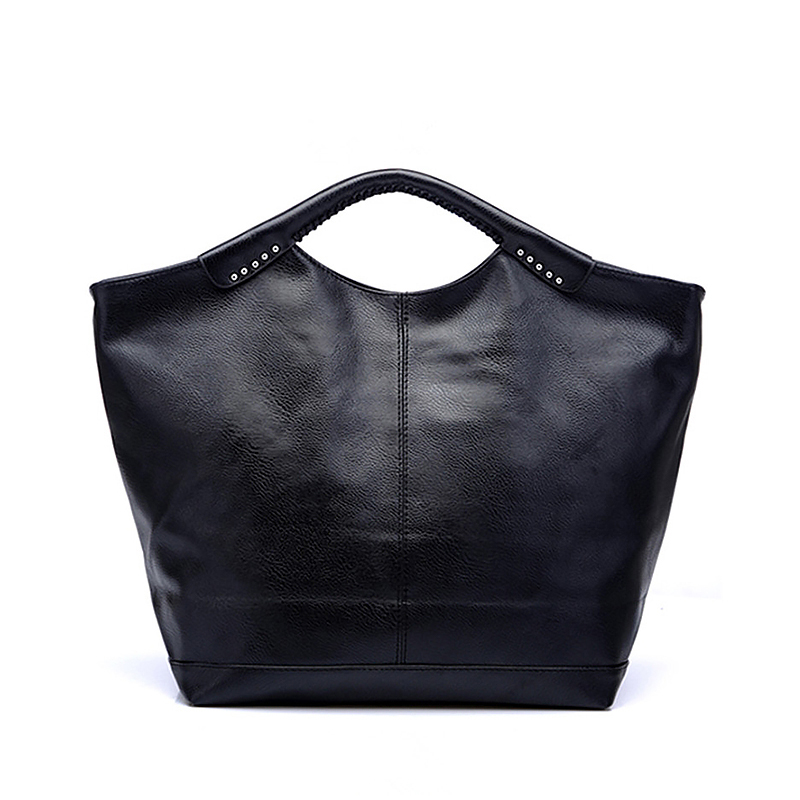 COUPON leather Large capacity tote black handbags women Phantom shoulder casual tote bag lady hobos trapeze simple style PU(China (Mainland))