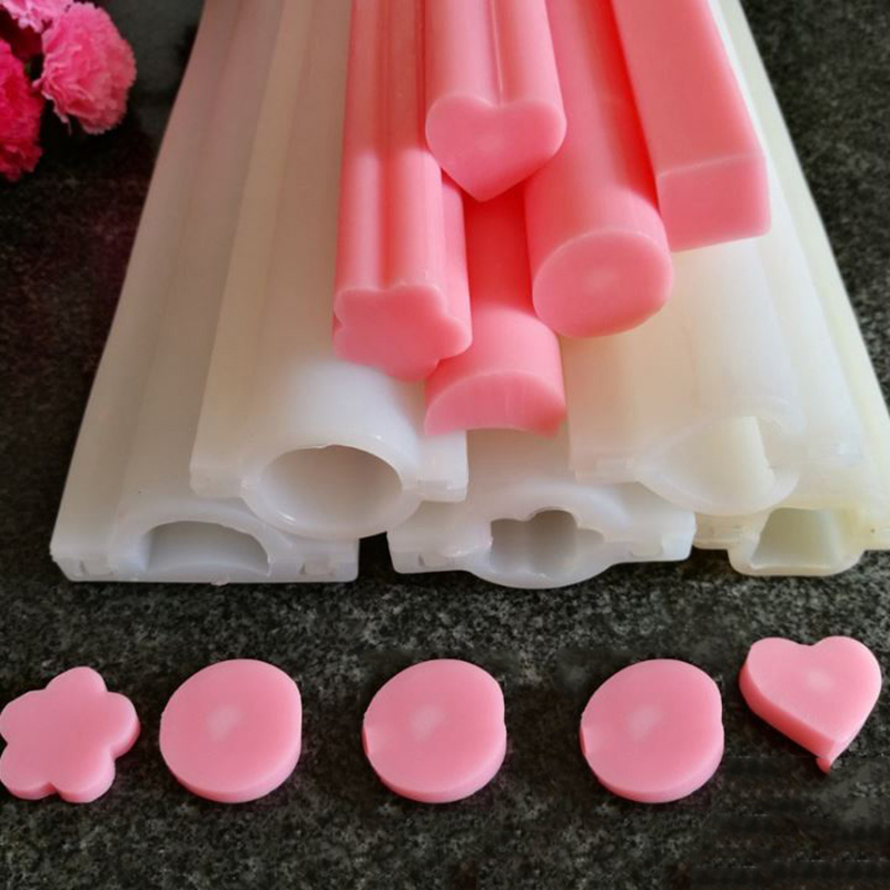 4 kinds Long silicone tube mold Small Size heart Shaped Silicone Tube Soap Mold pipe Moulds China Wholesale(China (Mainland))