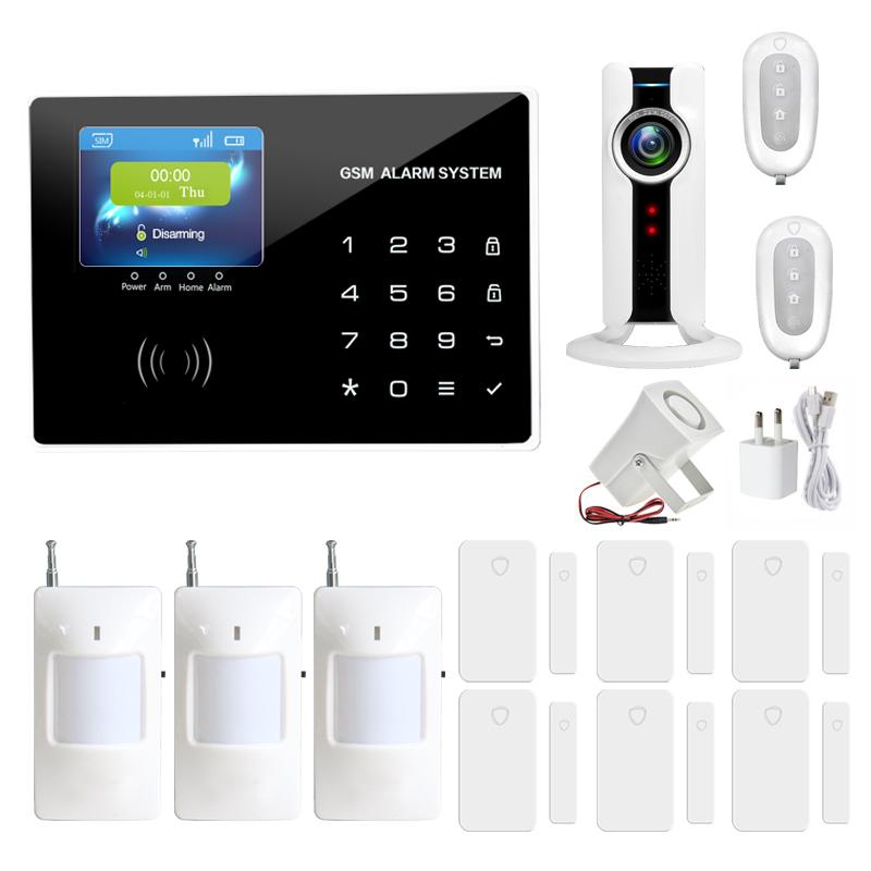 Home anti burglar security GSM Alarm System IOS/Android App control Autodial Home Security alarm system burglar alarm(China (Mainland))