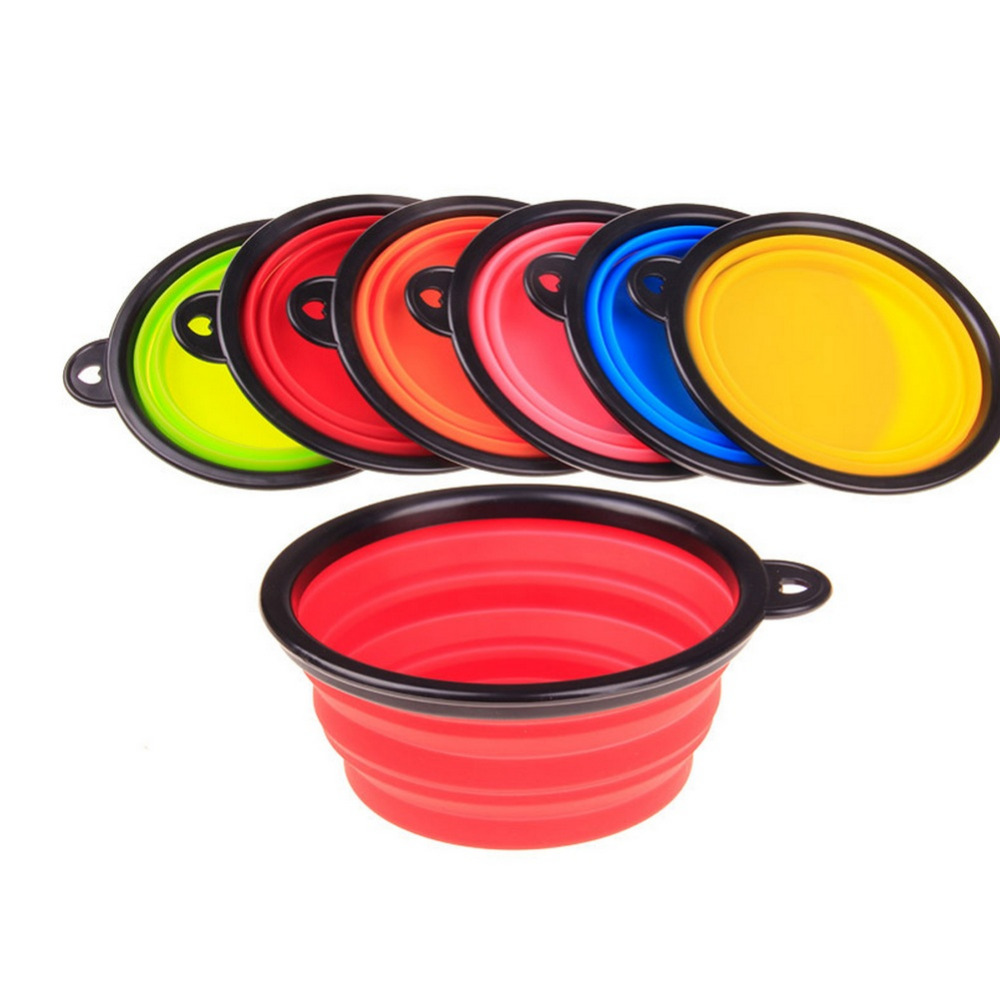 Hot Sale Pet Products silicone Bowl pet folding portable Dog Bowls wholesale for food the dog drinking water bowl pet bowls(China (Mainland))