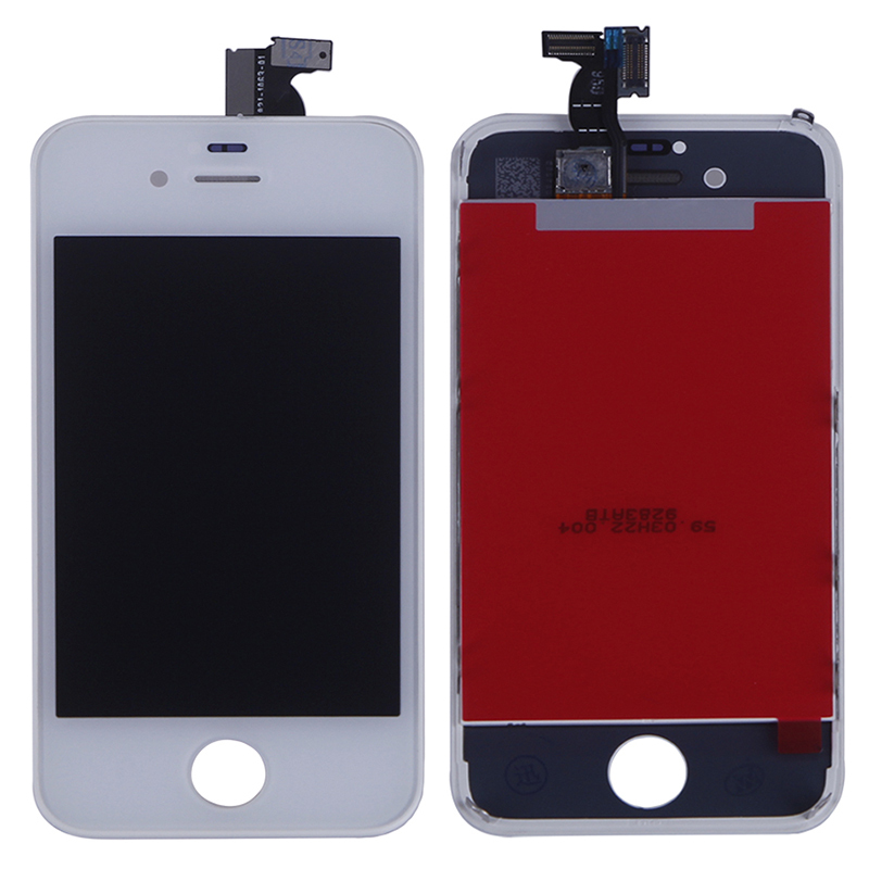 For Iphone 4 Digitizer LCD Touch Screen Assembly GSM Verizon White Color Free Shipping