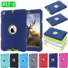 For Coque iPad Mini Cover Case 2015 Colorful Hybrid Armor Plastic Rubber Cases for iPad Mini 3 2 1 with screen protector film(China (Mainland))