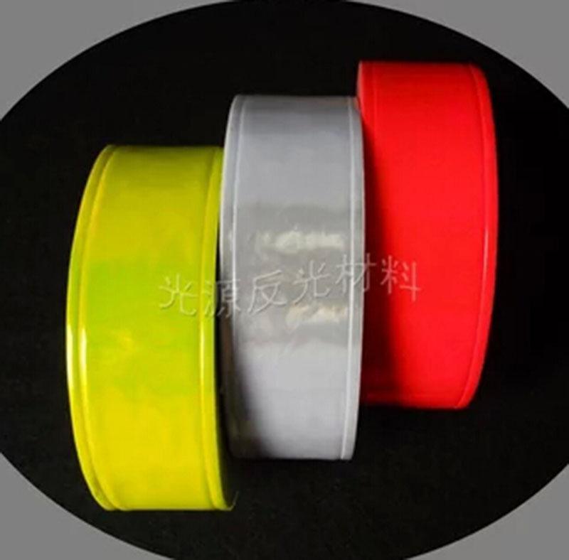 Безопасности предупреждение заметности кристаллической решетки пвх светоотражающие ленты флуоресценции желтый красный белый пришить 5 см * 3 м # A213