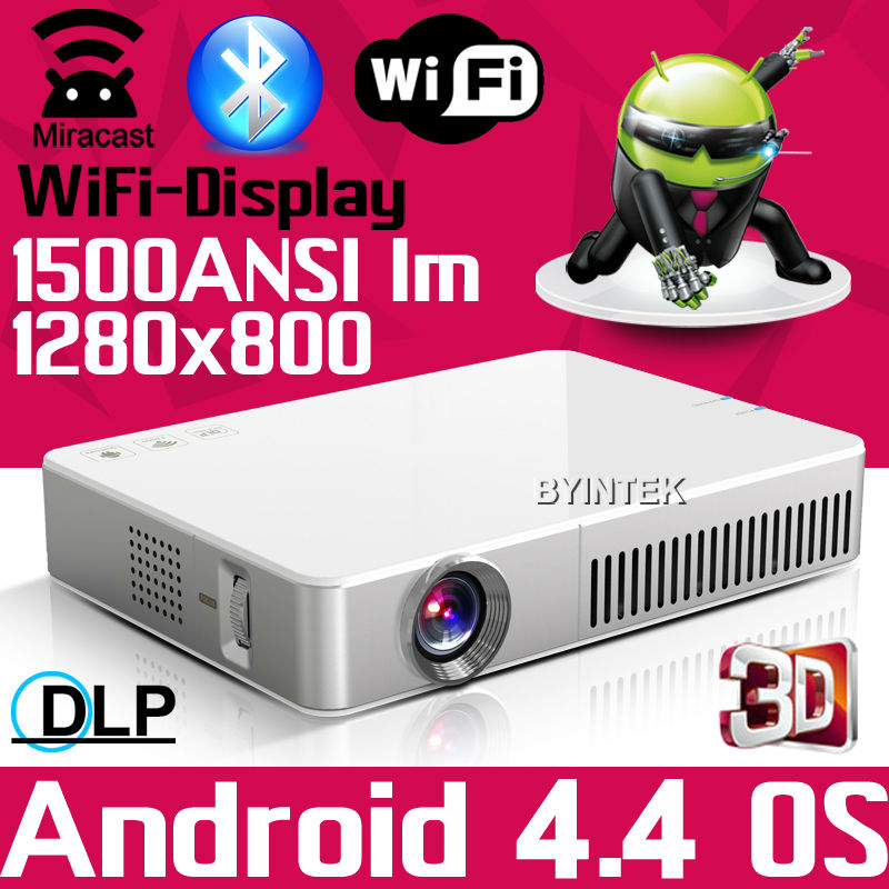 Top Rank 1500ANSI HD 1080P Android Wifi DLNA Miracast DLP 2D to 3D HDMI VGA USB SD Pocket LED Mini Projector beamer with Battery(China (Mainland))