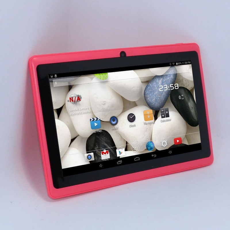 Tablet 7 inch tablet Allwinner A33 tablet pc Android 4.4 Quad Core Q88 512MB/4GB 1024*600 2300mAh wifi flashlight hot promotion(China (Mainland))