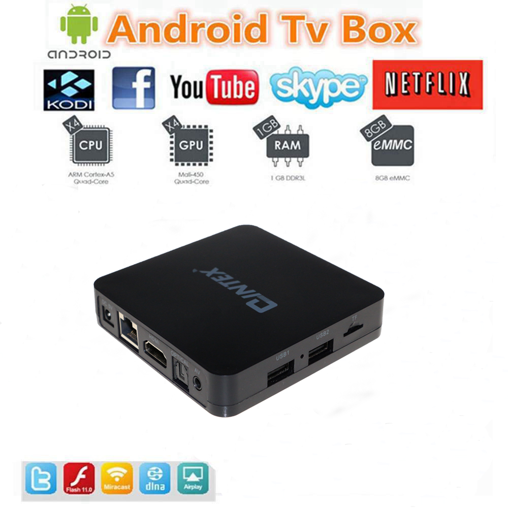 Android TV BOX Amlogic S805 Quad Core Android 4.4 Kitkat KODI better than, google android4.4 4K Media player with set top box(China (Mainland))