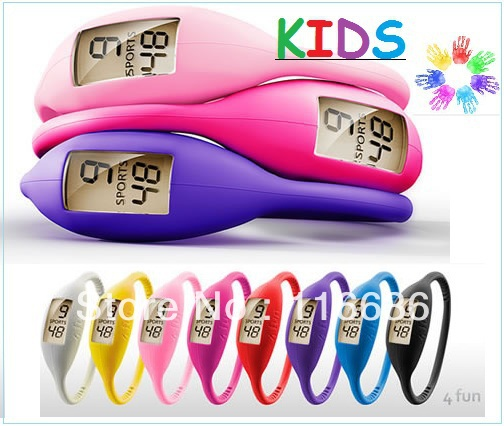 20 pcs Ion Watches Silicone Children KIDS watch colors Silicon Jelly Rubber Teen Slim Ladies Fashion Bulk Wholesale LOT girls(China (Mainland))