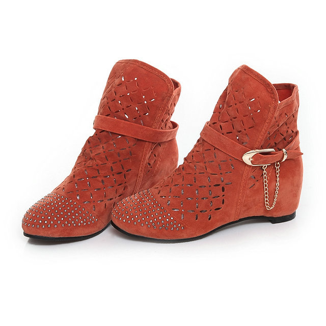size 30 43 s summer boots flat low wedges cutout