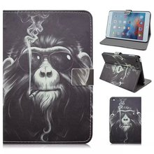 For iPad mini 4 Tablet Cute Animal Old Monkey Smoking Type Case Cover Protective Tablet Leather Cover Case High Quality(China (Mainland))