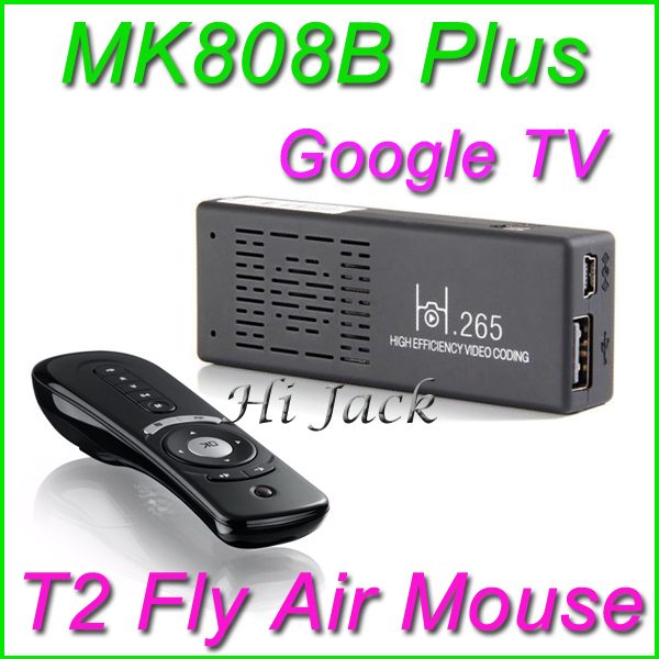 Original MK808B Plus+ T2 Amlogic M805 Android 4.4 Quad Core TV Stick Dongle H.265 Decode 1G/8G HDMI Bluetooth WiFi XBMC Mini PC(China (Mainland))