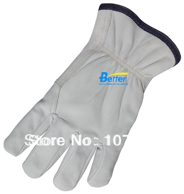 Work Glove Leather Driver Glove Cow Grain Leather Winter Working Glove BOA Warm Lining Cow Gain Leather Mechanist Welding Gloves(China (Mainland))