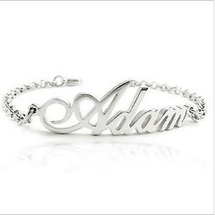 Здесь можно купить  DIY Name Bracelet Custom By Your Require 925 Sterling Silver Bracelet Fine Jewelry  Ювелирные изделия и часы