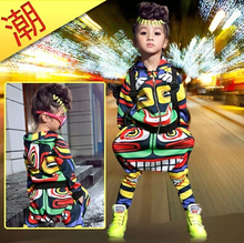 New fashion maya children's clothing set dance wear Costumes Jamaica Totem kids sport suits Hip Hop harem pants & sweatshirt(China (Mainland))