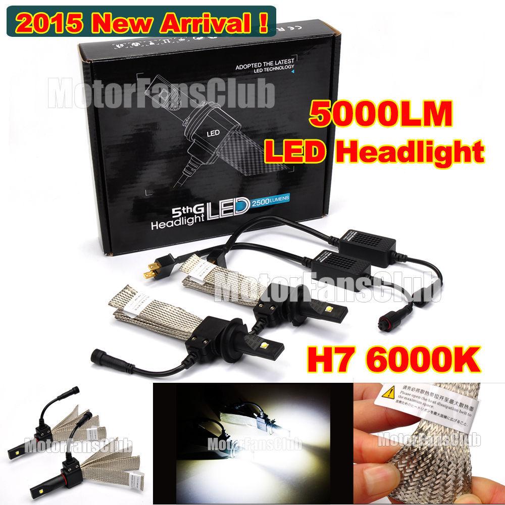 2015 40W 5000LM H7 Cree LED Headlight Conversion Kit Driving Lamp Bulb Xenon Motorcycle Car Light Source 6000K(China (Mainland))