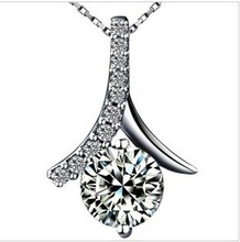 Luxury Austrian Crystal Necklace,SWA Elements,925 Sterling Silver Material,Fashion Necklace ON01(China (Mainland))