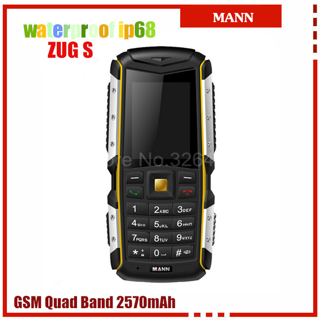 Original MANN ZUG S IP67 Waterproof Mobile Phone Rugged Outdoor Cell Phones old people phone Dual SIM card Bluetooth Russian(China (Mainland))