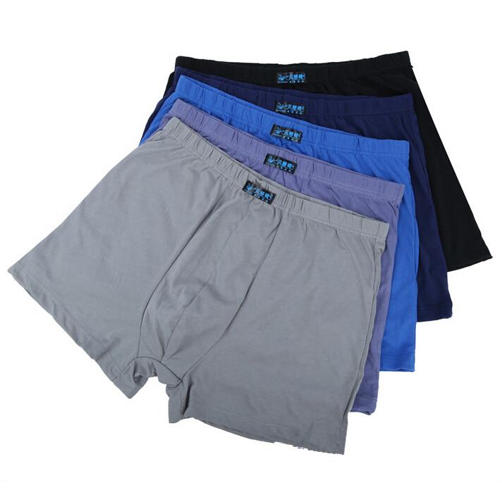 Big Size L-8XL! Plus Size Underwear Men Comfortable Male High Waist Panties Loose Cotton Oversized Big Man Underwear 5pcs/lot(China (Mainland))