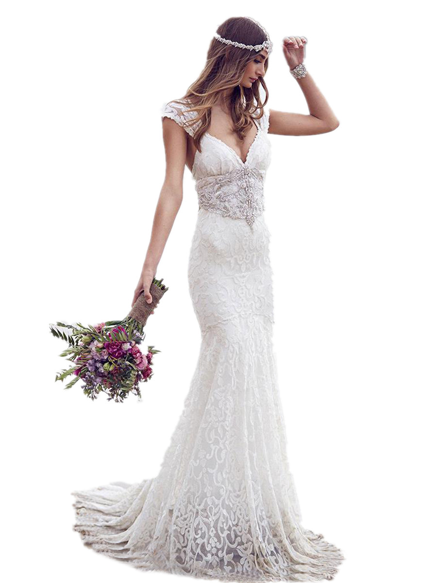 Buy gorgeous sexy fashion lace mermaid for Backless wedding dresses for sale