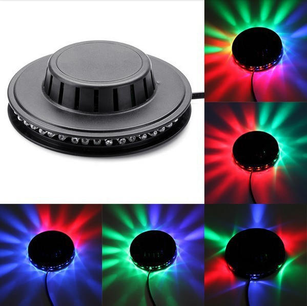 Buy 4 free to send 1 !! Portable multi UFO LED music Laser Stage Lighting Adjustment Party Wedding Club Projector light US or EU(China (Mainland))