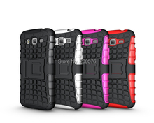 Mix color TPU&PC Dual Armor case with Stand for Grand 2    in Stock Free Shipping 1 pcs