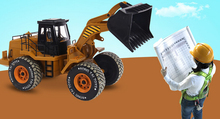 Free Shipping 1/10 scale rc truck electric rc excavator 6WD remote control construction trucks(China (Mainland))