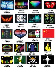 Design T-Shirt Velcor-on Patches Replacement Sound Activated Rave Dance Club Party LED Light Panel w/ Sensor Module EQ 201#~220#(China (Mainland))