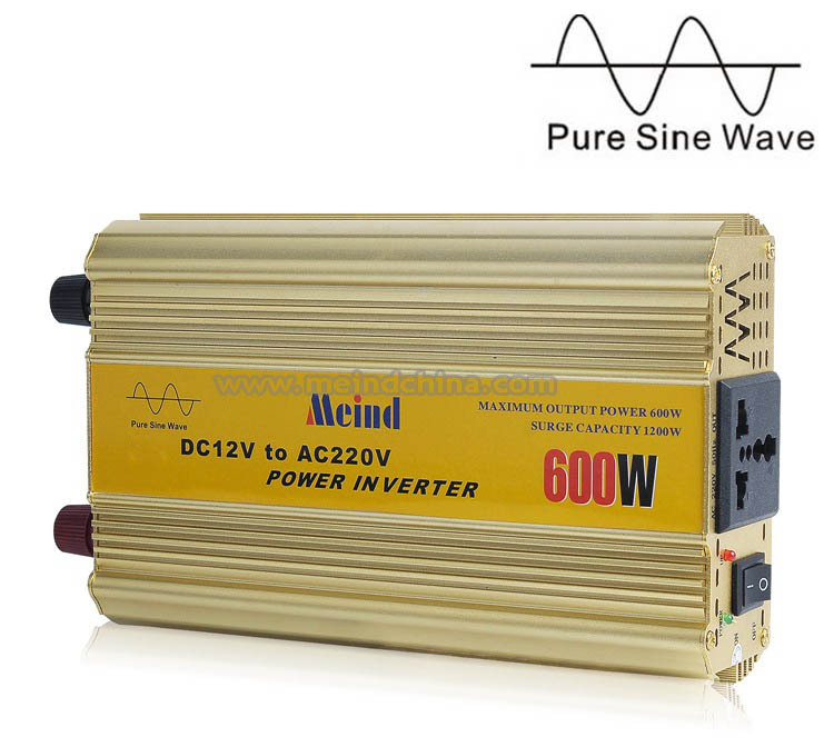 600W Power Inverter Pure Sine Wave 12V DC to 220V AC Converter Car inverters PSW AC Adapter PSW Power Supply Dropshipping(China (Mainland))