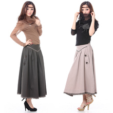 Women Spring and autumn  laciness cotton plaid slim a-line skirts casual skirt half-length long skirt