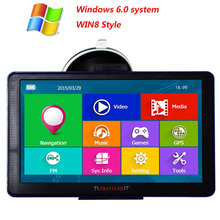 7 inch Car GPS Navigation Capacitive screen FM Built in 8GB 256M WinCE 6 0 Map