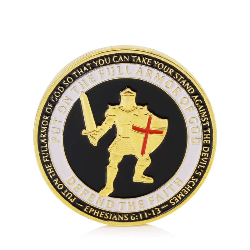 Gold Plated Put On The Armor of God Navy Commemorative Challenge Coin Collection(China (Mainland))
