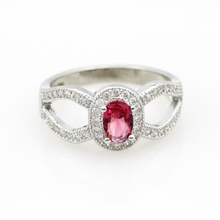 Green White Stone Ring Sterling Silver Jewelry Engagement Ring CZ Diamond Jewelry Anel Feminino Aneis Ruby