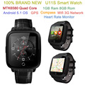 2017 Newest U11S Smart Watch Android 5 1 OS MTK6580 Quad Core 1GB Ram 8GB Rom
