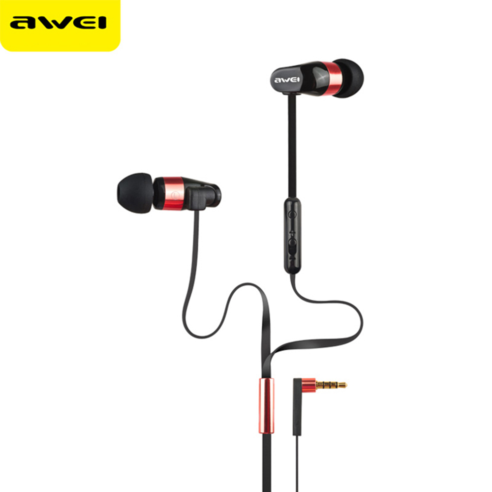 Original Awei ES-12hi Hifi Bass Music Earphone with Microphone Noise Cancelling Headset With Original Box consumer electronics(China (Mainland))