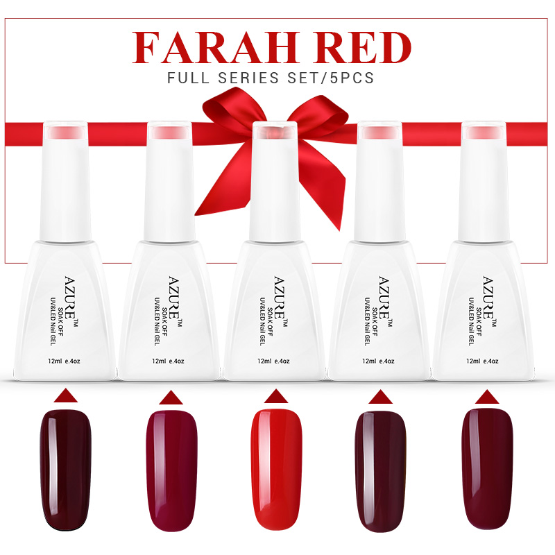 Azure Beauty Farah Red series Red gel nail polish 12ml uv gel varnish marry gift soak off led gel polish lacquer for Halloween <br><br>Aliexpress