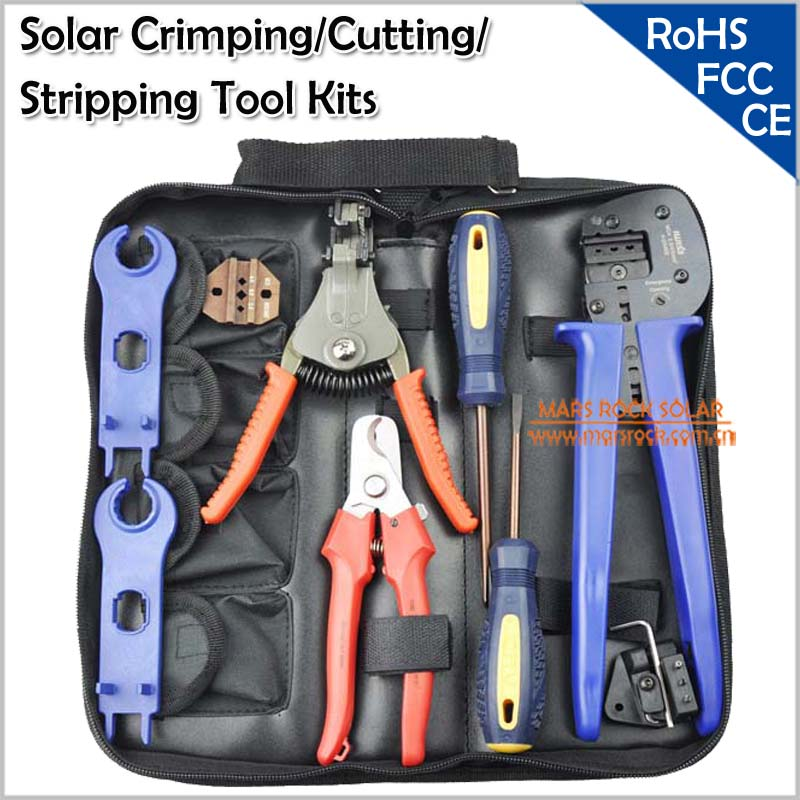 Solar Crimping Tools / Solar PV Tool Kits for Crimping/Cutting/Stripping<br><br>Aliexpress