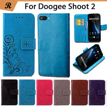 Buy Newest Doogee Shoot 2 Factory Price Luxury Cool Printed Flower 100% Special PU Leather Flip case Strap for $4.28 in AliExpress store