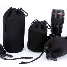 Universal Neoprene Waterproof Soft Video Camera Bags Lens Pouch Bag Case S M L XL Full Size For Canon Nikon Sony Black