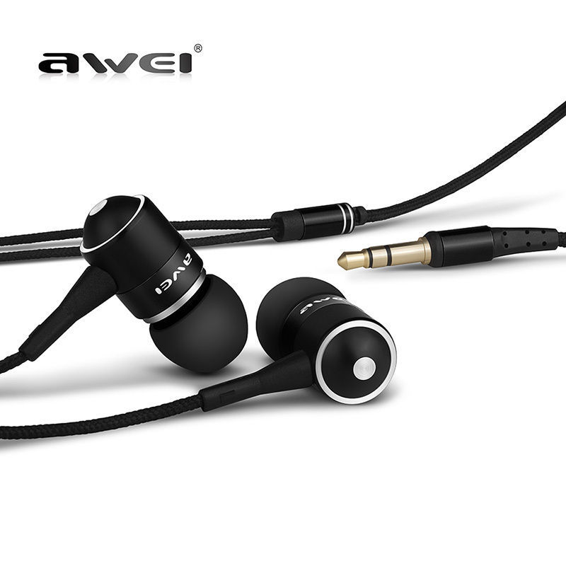 Original AWEI ES Q3 Noise Isolation Headphone In-ear Style Earphone for Phone MP3/MP4 Players 3.5mm Jack(China (Mainland))
