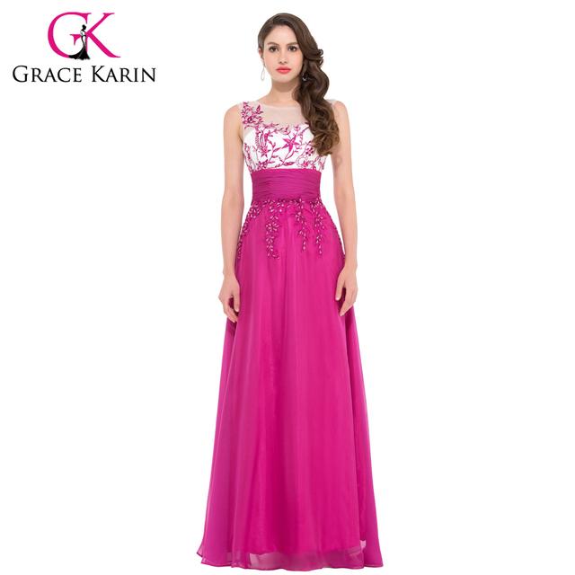 Грейс карин Жилетido феста блестки темно-розовые вечерние платья пола длинное вечернее ...