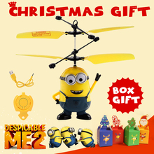2015 hot !Minions Despicable Me RC Helicopter Induction Flying Minion Fairy Dolls Remote Radio Helicoptero Drone Juguetes Toys(China (Mainland))