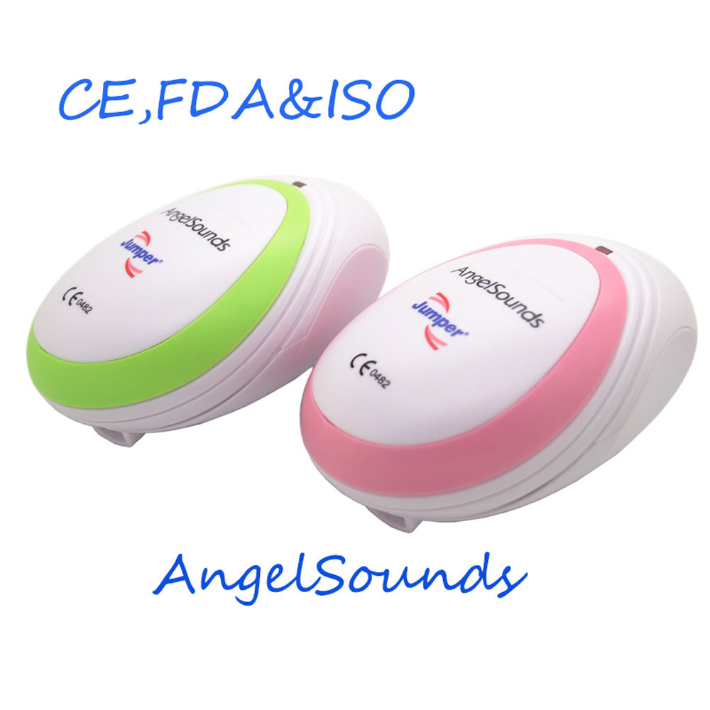 AngelSounds CE FDA Mini Fetal Doppler Pocket Ultrasound Prenatal Fetal Detector Portable Baby Heart Rate Monitor Free shipping(China (Mainland))