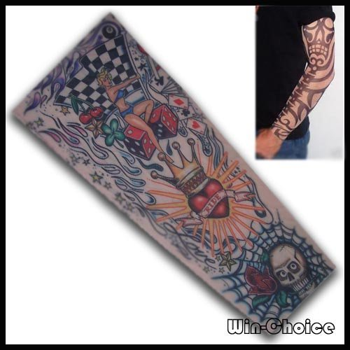 FREE SHIPPING Temporary Tattoo Sleeve  10pcs(5pairs) at wholesale price  Mixed Order accept  Dropshipping